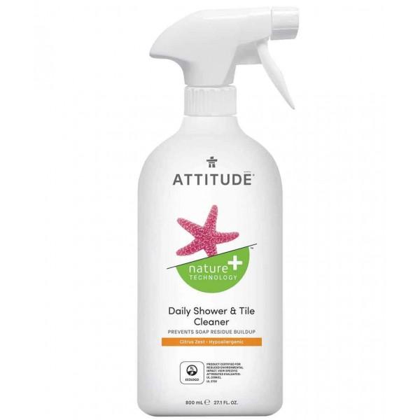 加拿大 ATTITUDE 艾特優_浴室瓷磚清潔劑-柑橘味 800ml  AM10380  缺貨中