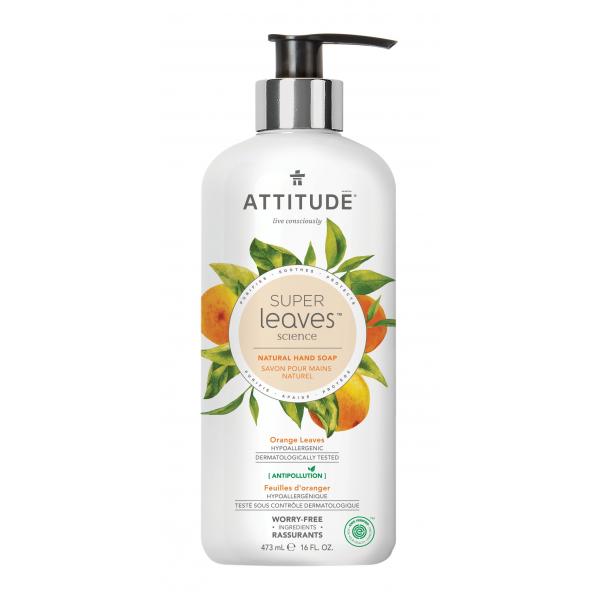 加拿大 ATTITUDE 艾特優_Super Leaves™洗手乳-橙葉 473ml AL14098