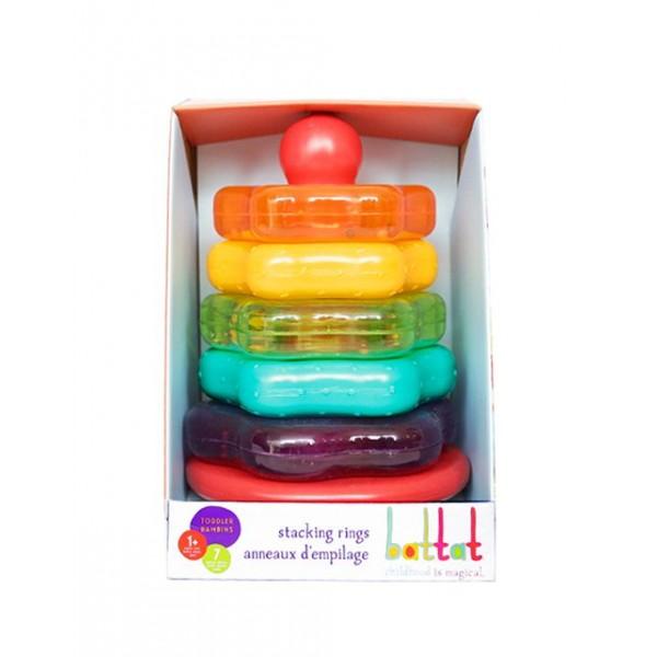 美國【B.Toys】感統玩具 貝果套圈圈(彩紅) BT2579Z