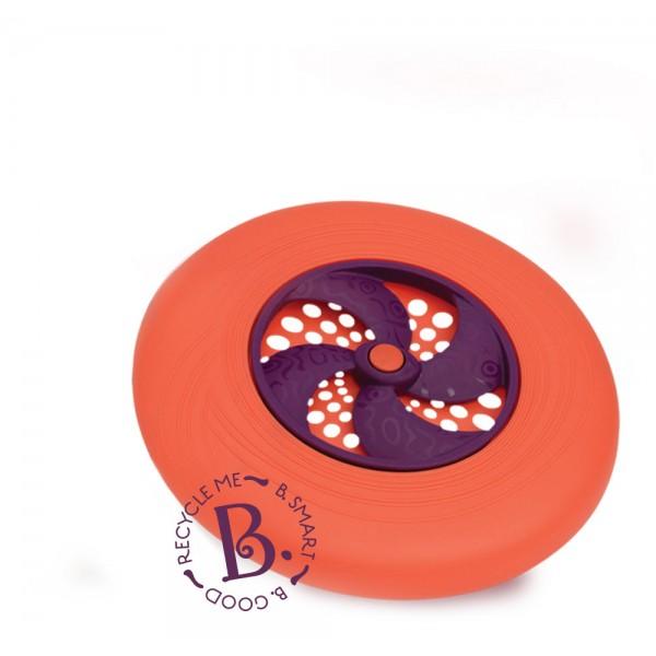 美國【B.Toys】感統玩具 飛盤迪斯可-橘 BX1356Z