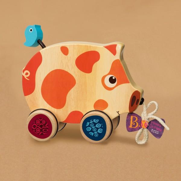 美國【B.Toys】感統玩具 斑斑豬散步 BX1393Z (缺貨中)