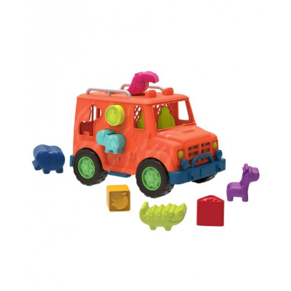 美國【B.Toys】飽胃站生態吉普車_Wonder Wheels系列 VE1029Z