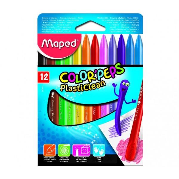 12色可擦式三角蠟筆
