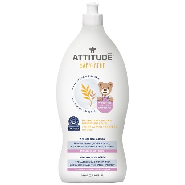 加拿大 ATTITUDE 艾特優_寶寶敏感肌膚奶瓶餐具洗潔精 A60318